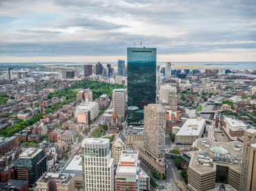 Widok na Boston z Prudential Tower
